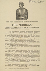 Advert for the Eureka Chest Expander & Back Supporter
